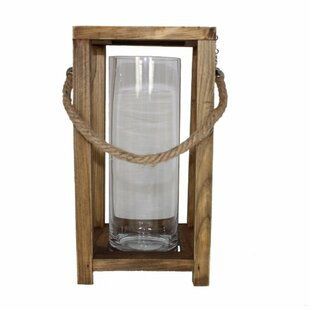 Savings Wood/Glass Lantern By Highland Dunes