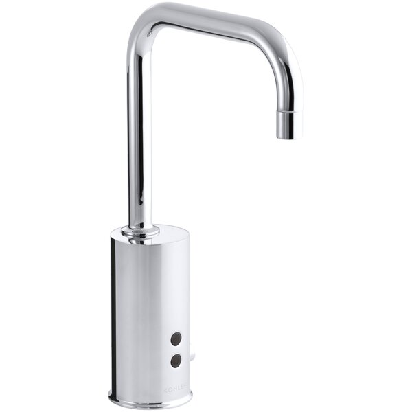 Gooseneck Single-Hole Touchless Electronic Deck-Mount Faucet with Insight Technology and Mixer, Less Drain. Complies with Buy America Act (Baa) and Ab1953 by Kohler