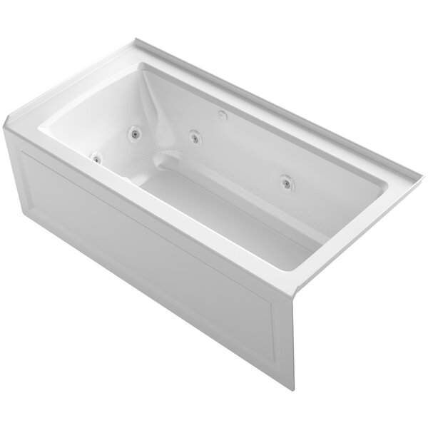 Archer Alcove Whirlpool and Bubblemassage™ Air Bath with Right-Hand Drain by Kohler