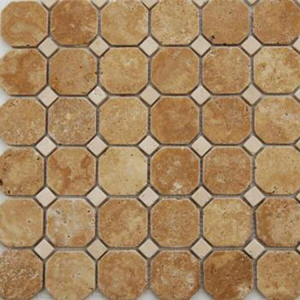 1 x 1 Travertine Mosaic Tile in Honed Brown by Epoch Architectural Surfaces