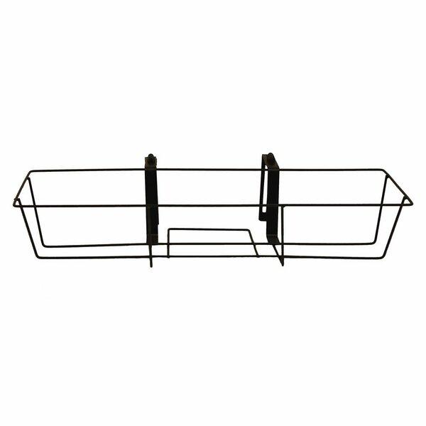 Tiana Adjustable Metal Black Window Box Planter by Gracie Oaks