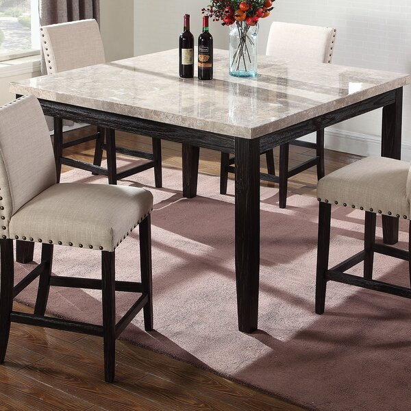 Marble Counter Height Dining Table by BestMasterFurniture