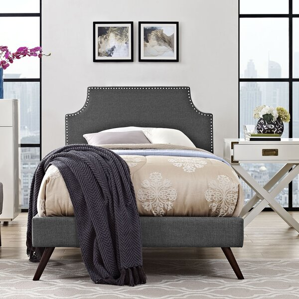 Portis Upholstered Platform Bed by Andover Mills