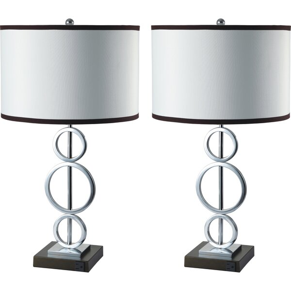 Tiered Rings 26 Table Lamp (Set of 2) by Sintechno