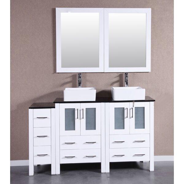 Pratt 60 Double Bathroom Vanity Set with Mirror by Bosconi