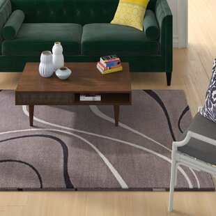 Reviews Winvian Abstract Swirl Charcoal/Black/Ivory Area Rug By Orren Ellis