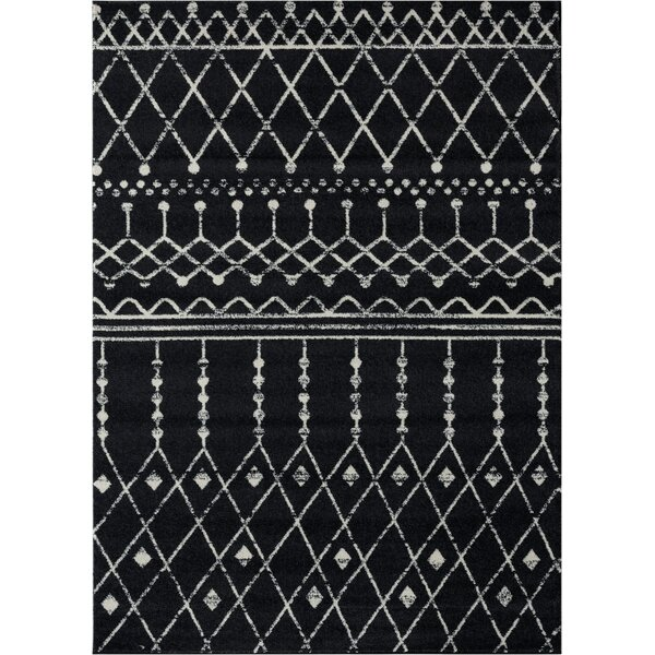Cascio Black/Gray Area Rug by Gracie Oaks