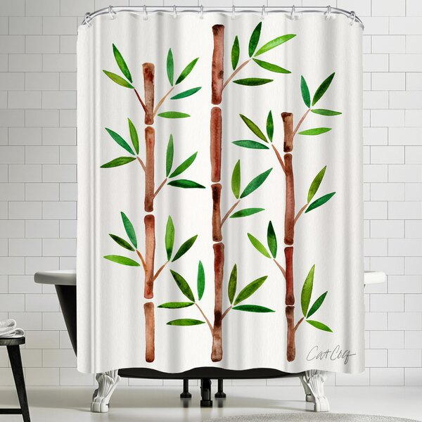 Bamboo Shower Curtain by East Urban Home