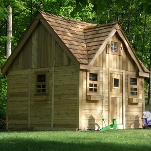 Check Prices Laurens Cottage 9.17' x 8.75' Playhouse By Outdoor Living Today