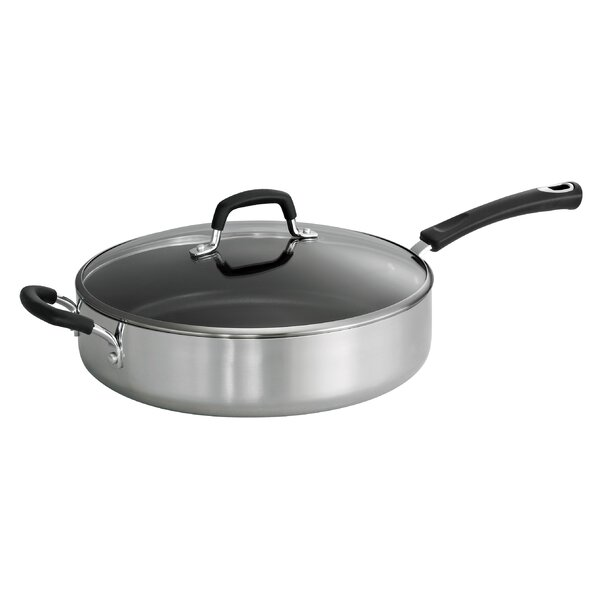 5.5 Qt. Aluminum Nonstick Saute Pan with Lid by Tramontina