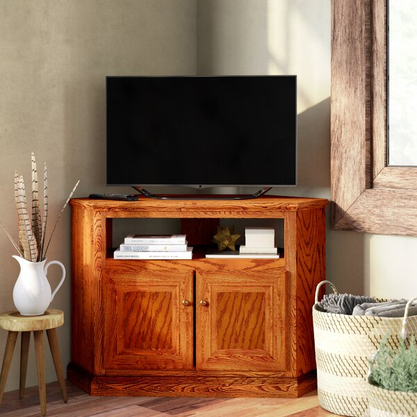 Review Lapierre Solid Wood Corner TV Stand For TVs Up To 58