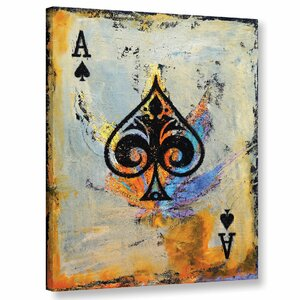 Ace of Spades' Painting Print on Wrapped Canvas by Ivy Bronx