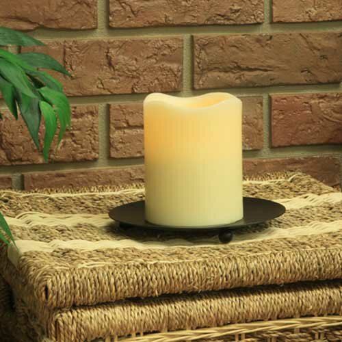 Melted Wax Pillar Candle by Three Posts