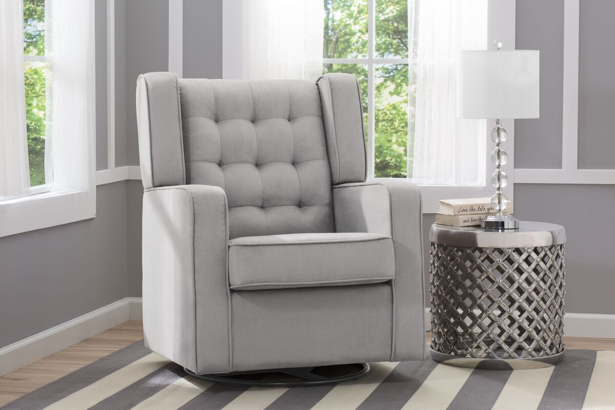 Wayfair Swivel Glider Chair: Delta Children Paris Swivel Glider & Reviews