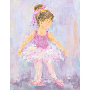 'Little Dancer 3' by Susan Pepe Stretched Canvas Art by Oopsy Daisy