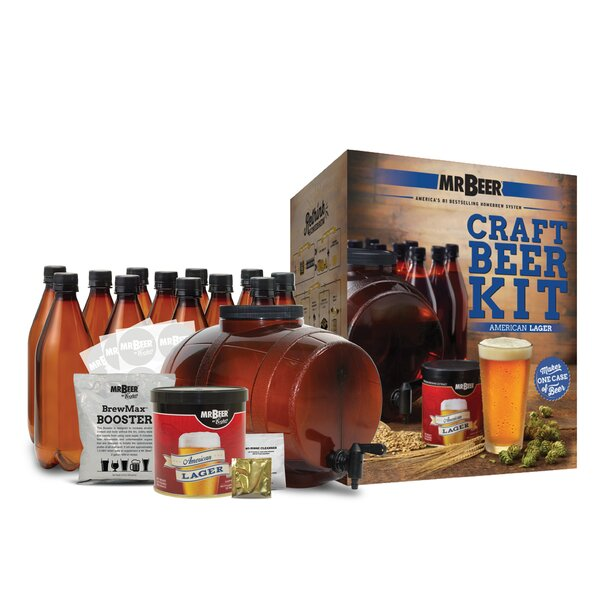 Mr. Beer American Lager Complete Craft Beer Making Kit by Mr. Beer