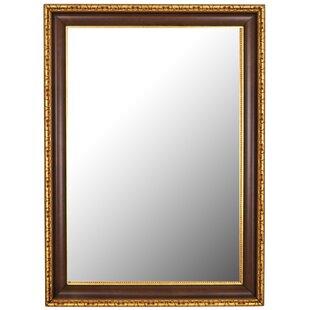 Fleur De Lis Living Antique Gold Framed Accent Wall Mirror