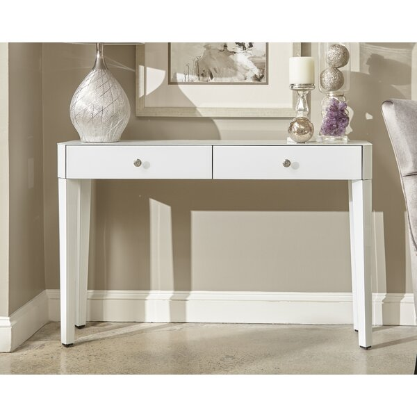 Review Thurston Reverse Painted Glass Console Table