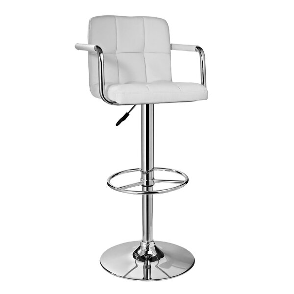 Nashville Adjustable Height Swivel Bar Stool by Orren Ellis