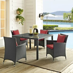 Tripp 5 Piece Dining Set with Sunbrella Cushions By Brayden Studio