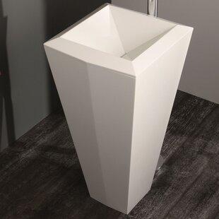 Shop For Crystal Stone 18 Pedestal Bathroom Sink By Aquatica