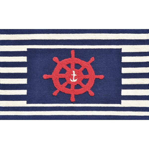 White/Blue Area Rug by The Conestoga Trading Co.