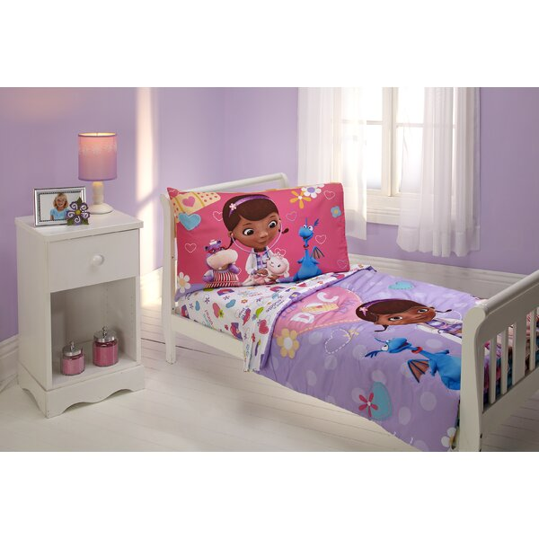 The Doc is In 4 Piece Doc McStuffins Toddler Bedding Set by Disney