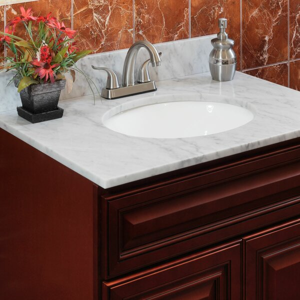 Cara White 43 Single Bathroom Vanity Top by LessCa