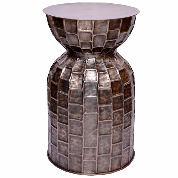Brick Accent End Table by Fashion N You by Horizon Interseas