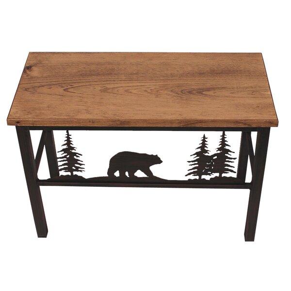 Hardwick Bear and Tree Scene Wood Bench by Loon Peak