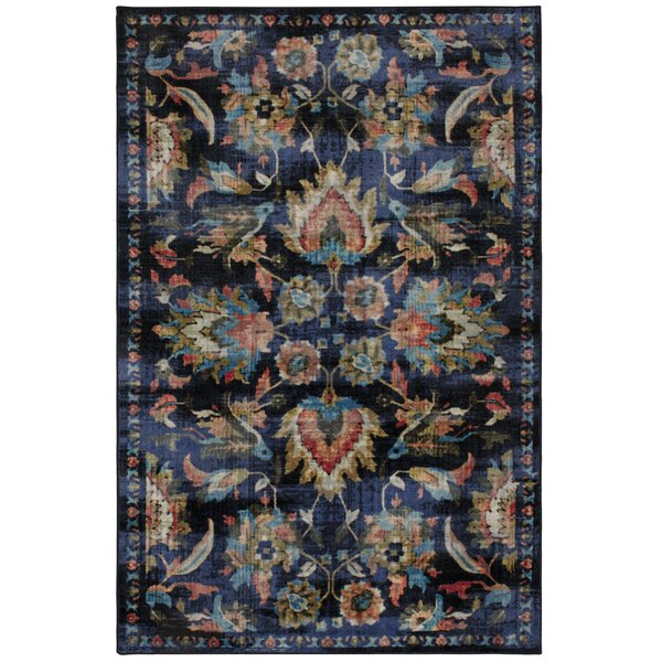 Barkhampstead Power Loom Medium Blue Area Rug by Bungalow Rose
