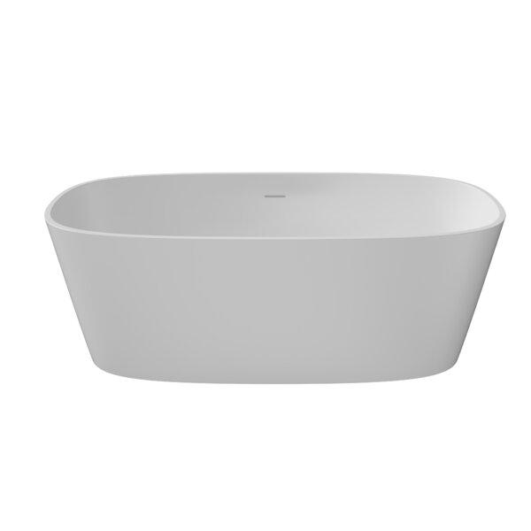 Padova Eco-Lapistone 59 x 26 Freestanding Soaking Bathtub by Perlato