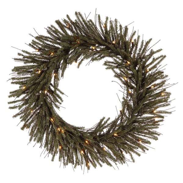 30 Lighted Artificial Vienna Twig Christmas Wreath by Vickerman