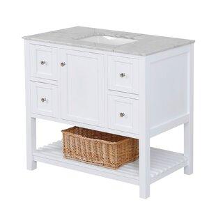 Low priced Chertsey Open Cabinet 42 Single Bathroom Vanity Set ByThree Posts