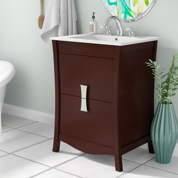 Cataldo Wood Floor Mount 24 Single Bathroom Vanity Set by Royal Purple Bath Kitchen