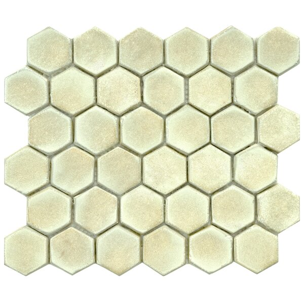 Greenwich Hex 1.88 x 1.88 Ceramic Mosaic Tile in Off-White by EliteTile