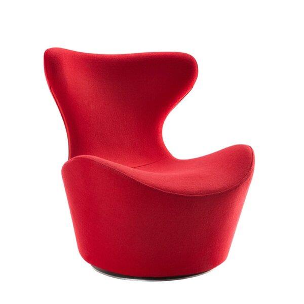 Citronelle Upholstered Swivel Side Chair by Orren Ellis