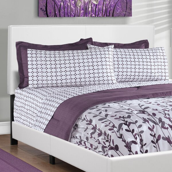 Queen Upholstered Bed by Monarch Specialties Inc.