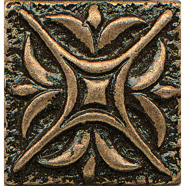 Ambiance Insert Rising Star 1 x 1 Resin Tile in Bronze by Bedrosians