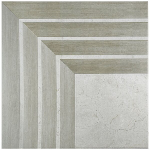 Mirage 17.75 x 17.75 Ceramic Field Tile in Gray by EliteTile