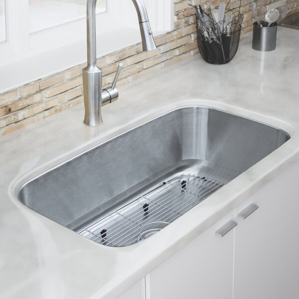 Foster Series Stainless Steel 33 L x 18 W Undermount Kitchen Sink by Phoenix