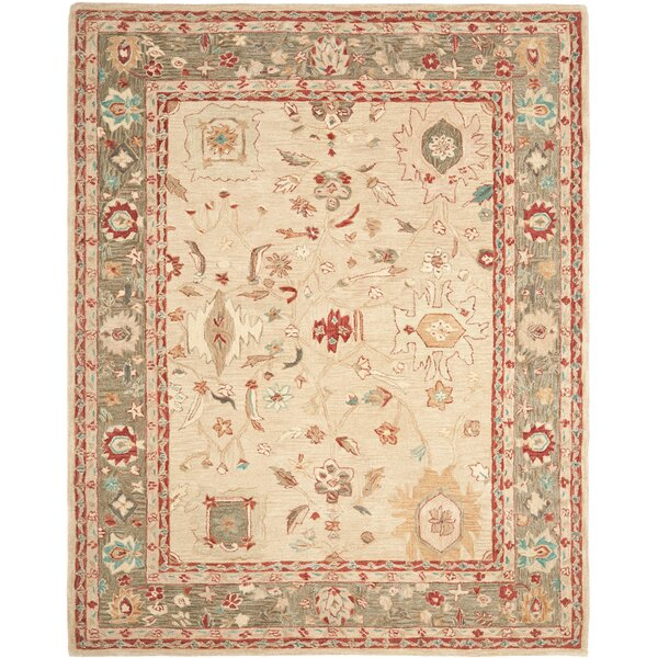 Pritchard Hand Knotted Area Rug by Three Posts