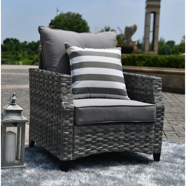 Branum Patio Chair with Cushions by Canora Grey