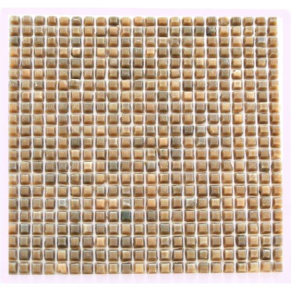 Ecologic 0.38 x 0.38 Glass Mosaic Tile in Café by Abolos