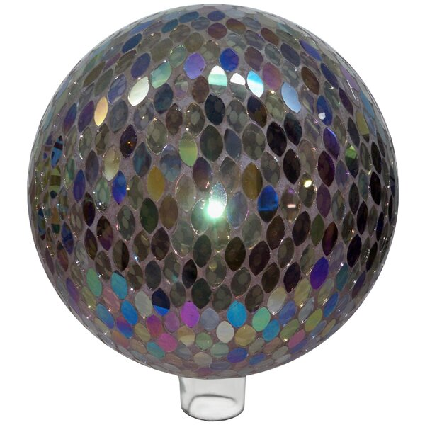 Mosaic Ellipse Glass Gazing Globe by Very Cool Stuff
