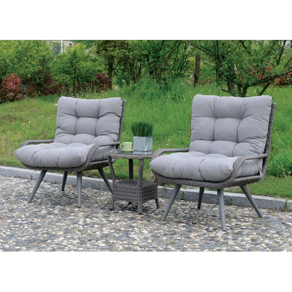 Hammitt Contemporary Patio Chair with Cushions (Set of 2) by Ivy Bronx