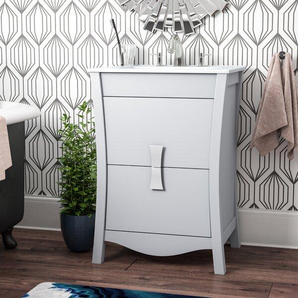 Cataldo Modern Wood Floor Mount 24 Single Bathroom Vanity Set by Royal Purple Bath Kitchen