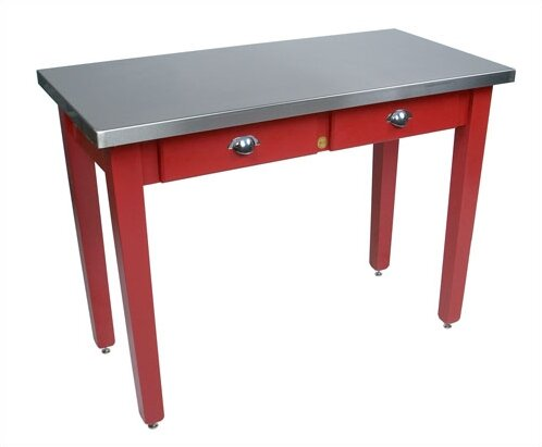Cucina Americana Prep Table with Stainless Steel Top by John Boos