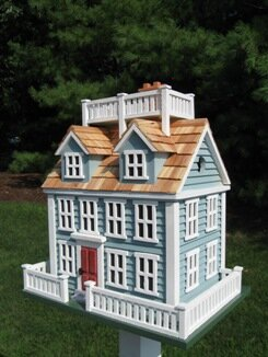 Claire Murray Nantucket Colonial 16 in x 16 x 11 in in Birdhouse by Home Bazaar