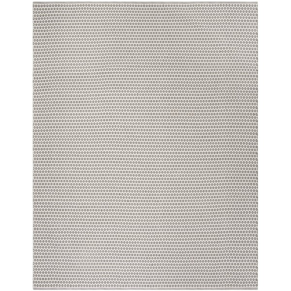 Church Street Hand-Woven Cotton Gray/Ivory Area Rug by Highland Dunes